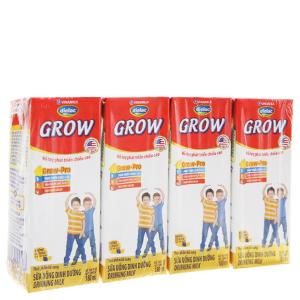 Lốc 4 hộp sữa bột pha sẵn Dielac Grow 180ml (tăng chiều cao)