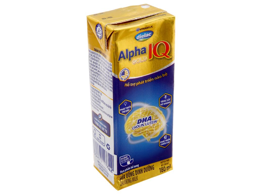 Lốc 4 hộp sữa bột pha sẵn Dielac Alpha Gold IQ 180ml 2