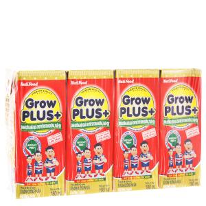 Lốc 4 hộp sữa bột pha sẵn NutiFood Grow Plus+ suy dinh dưỡng, thấp còi vani 180ml