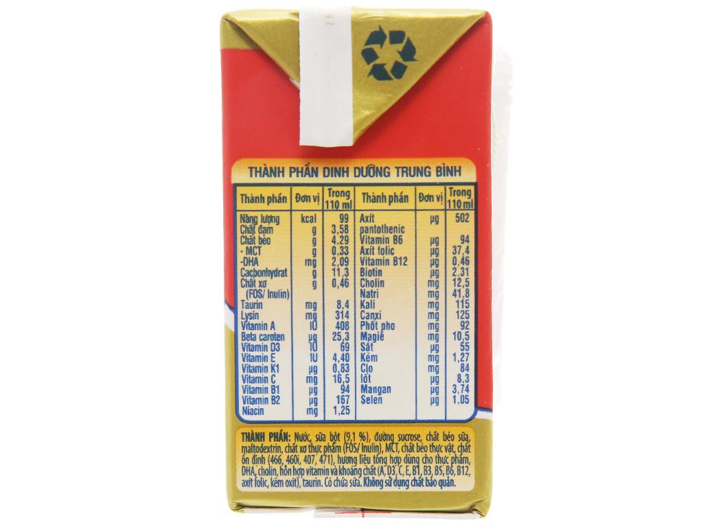 Sữa bột pha sẵn NutiFood Grow Plus+ vani 110ml 4