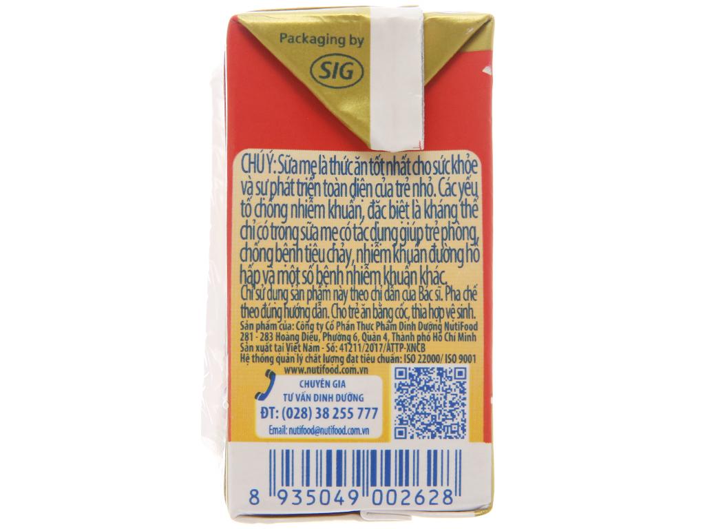 Sữa bột pha sẵn NutiFood Grow Plus+ vani 110ml 5