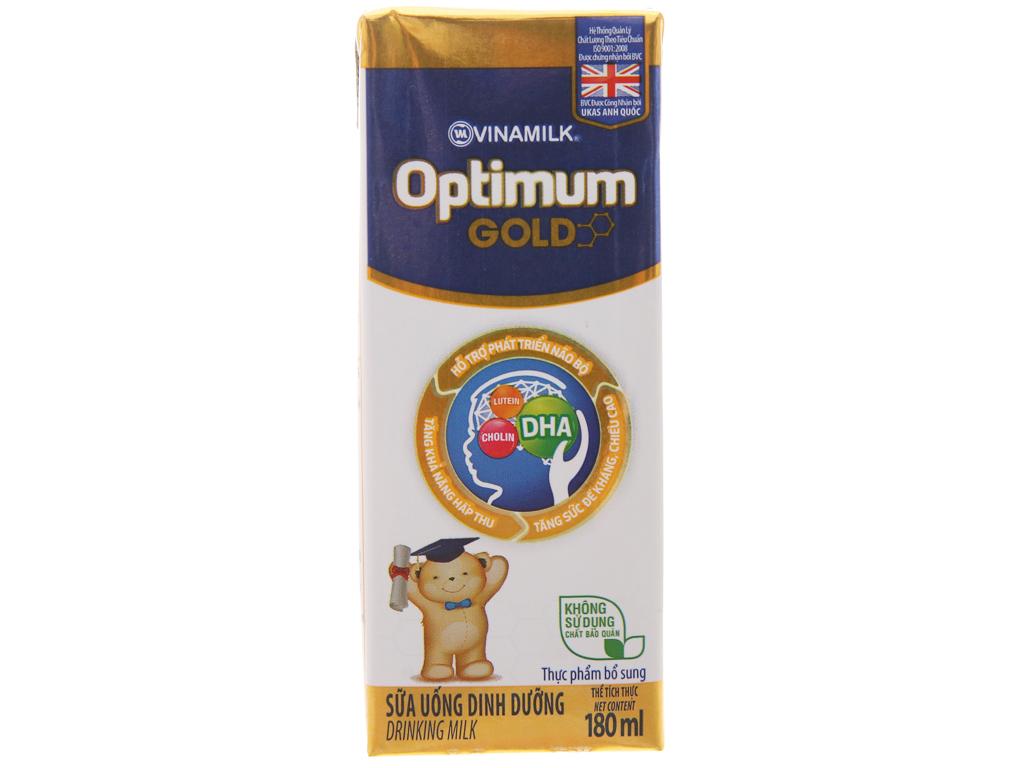 Lốc 4 hộp sữa bột pha sẵn Optimum Gold 180ml 3