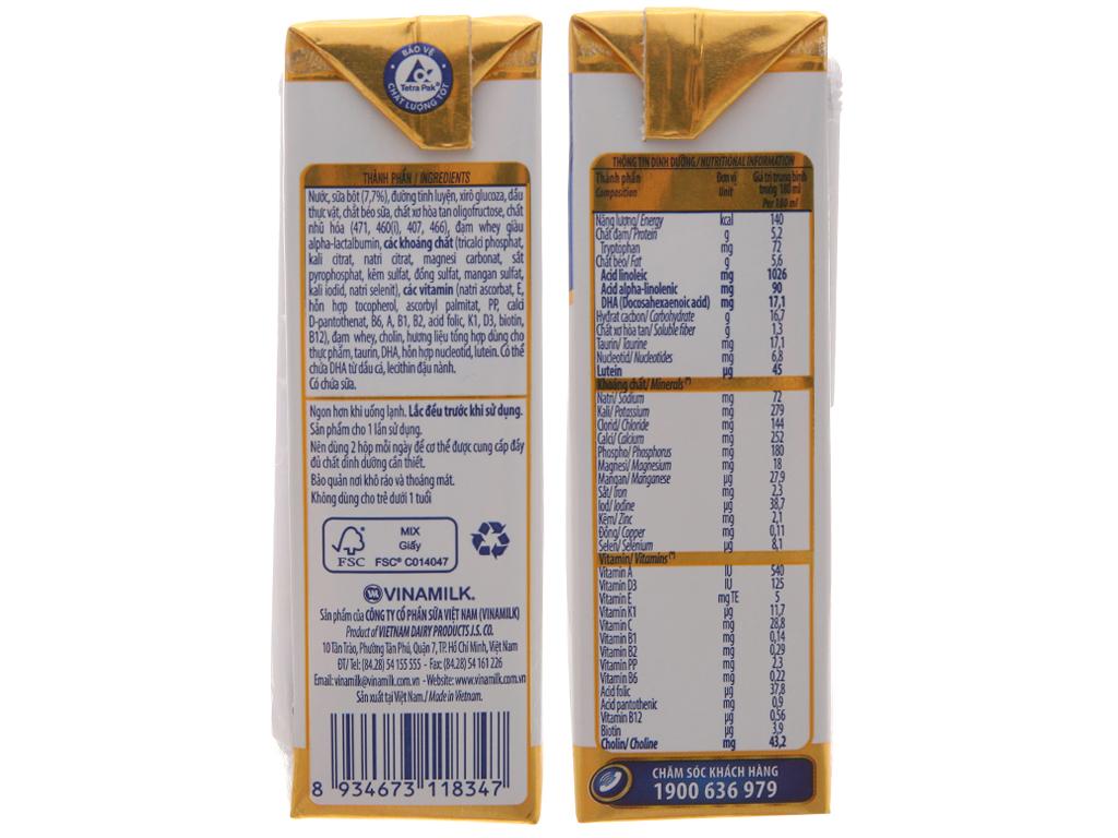 Lốc 4 hộp sữa bột pha sẵn Optimum Gold 180ml 5