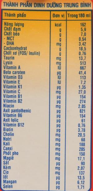 Sữa bột pha sẵn NutiFood Grow Plus+ vani 180ml 6