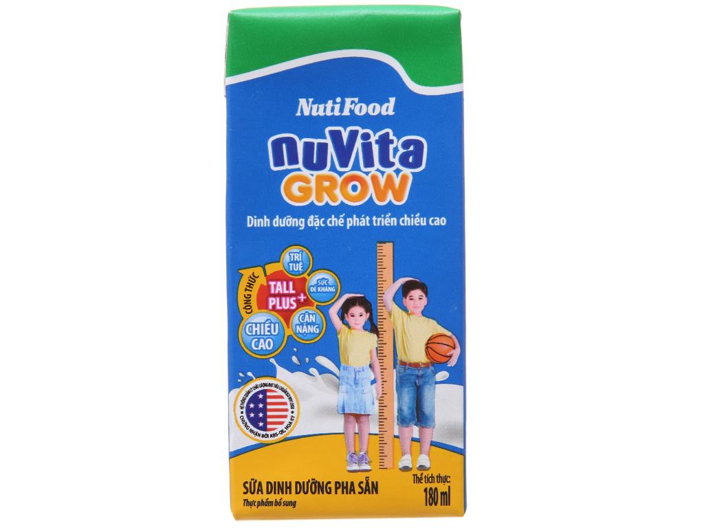 Lốc 4 hộp sữa bột pha sẵn NutiFood Nuvita Grow 180ml 3
