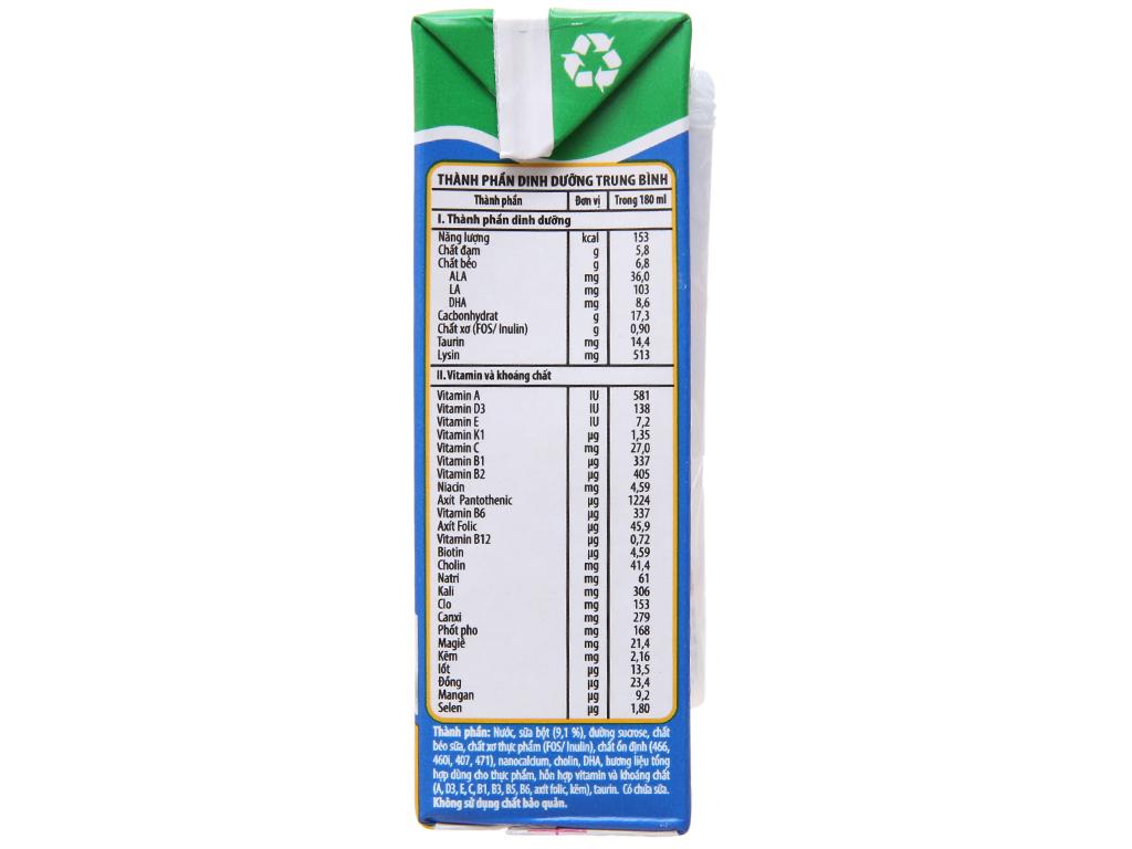 Lốc 4 hộp sữa bột pha sẵn NutiFood Nuvita Grow 180ml 5