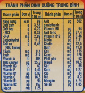 Lốc 4 hộp sữa dinh dưỡng pha sẵn NutiFood Grow Plus+ vani 110ml (cho trẻ suy dinh dưỡng, thấp còi) 5
