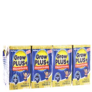 Lốc 4 hộp sữa bột pha sẵn NutiFood Grow Plus + tăng cân khỏe mạnh vani 110ml