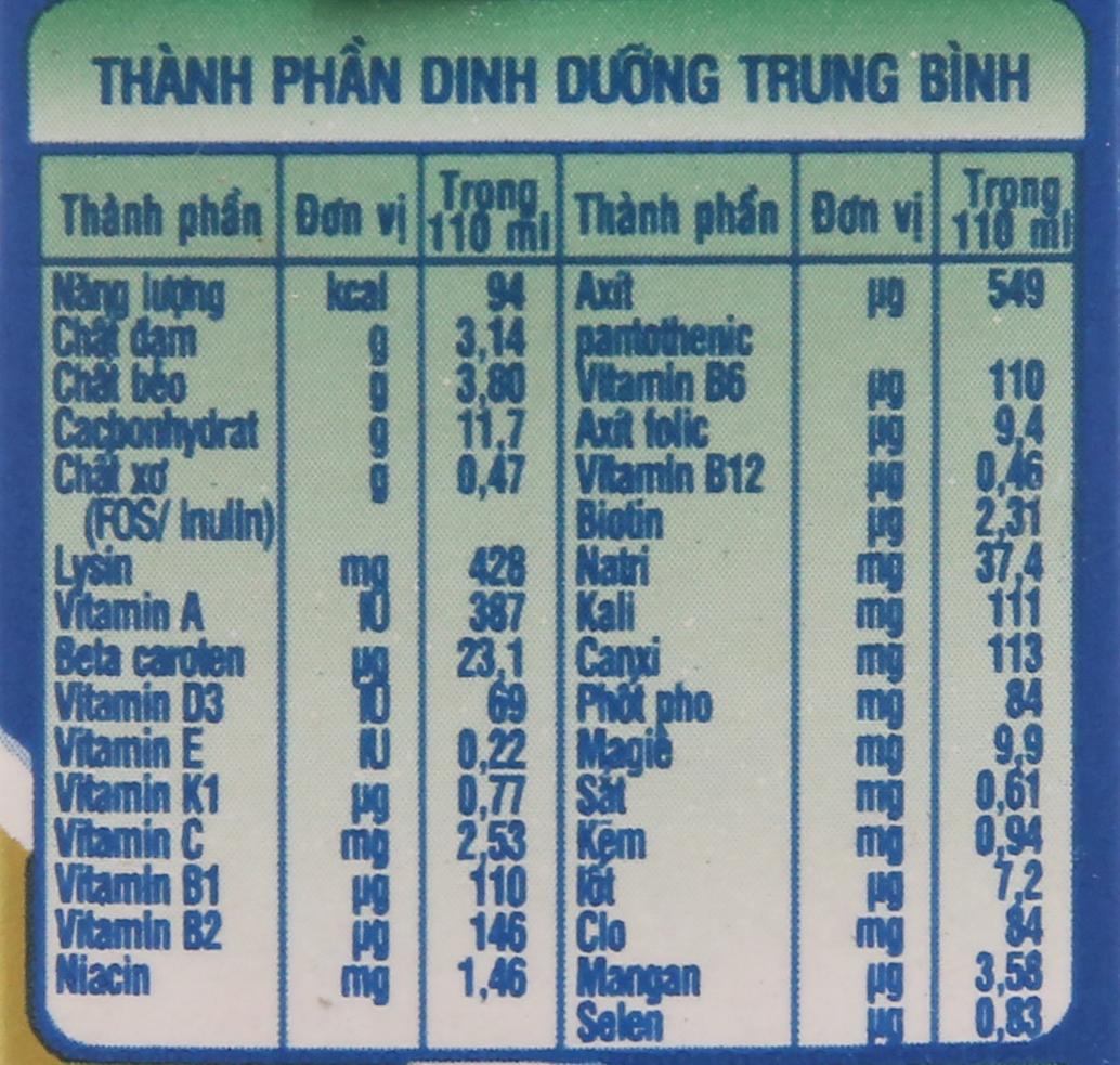 Lốc 4 hộp sữa bột pha sẵn NutiFood Grow Plus + tăng cân khỏe mạnh vani 110ml 6