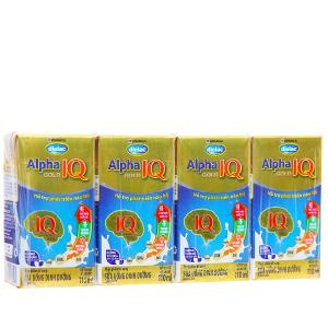 Lốc 4 hộp sữa uống dinh dưỡng Dielac Alpha Gold IQ 110ml