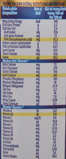 Sữa bột pha sẵn Dielac Alpha Gold có đường 180ml 6