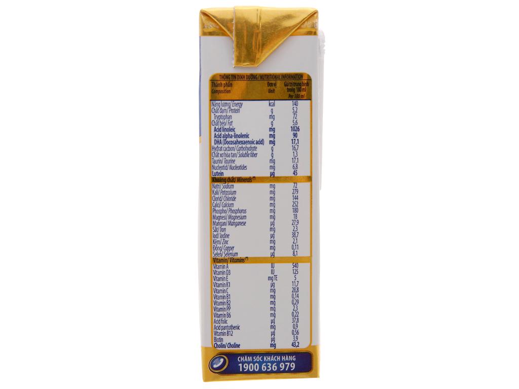 Sữa bột pha sẵn Vinamilk Optimum Gold có đường 180ml 4