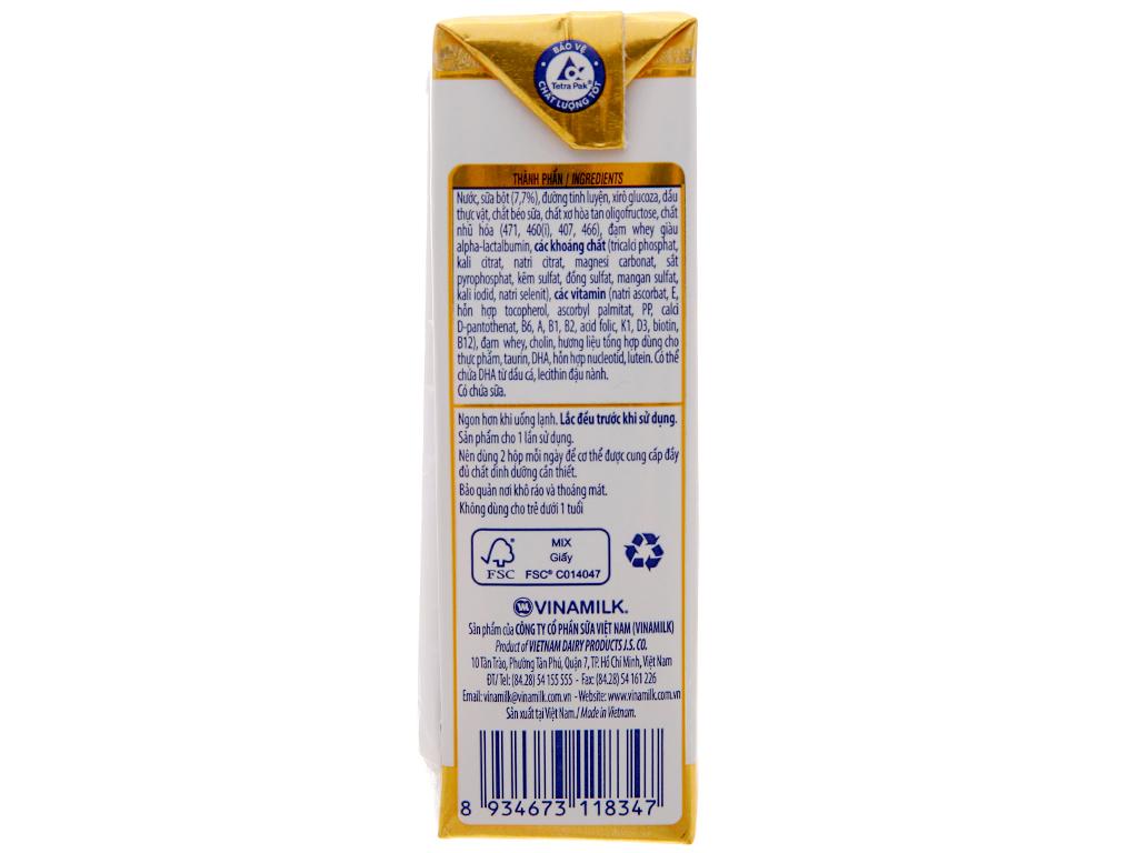 Sữa bột pha sẵn Vinamilk Optimum Gold có đường 180ml 5