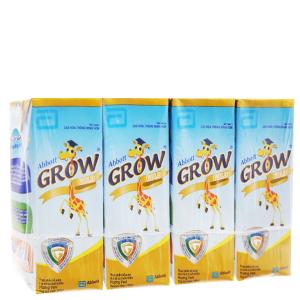 Lốc 4 hộp sữa bột pha sẵn Abbott Grow Advance vani 180ml