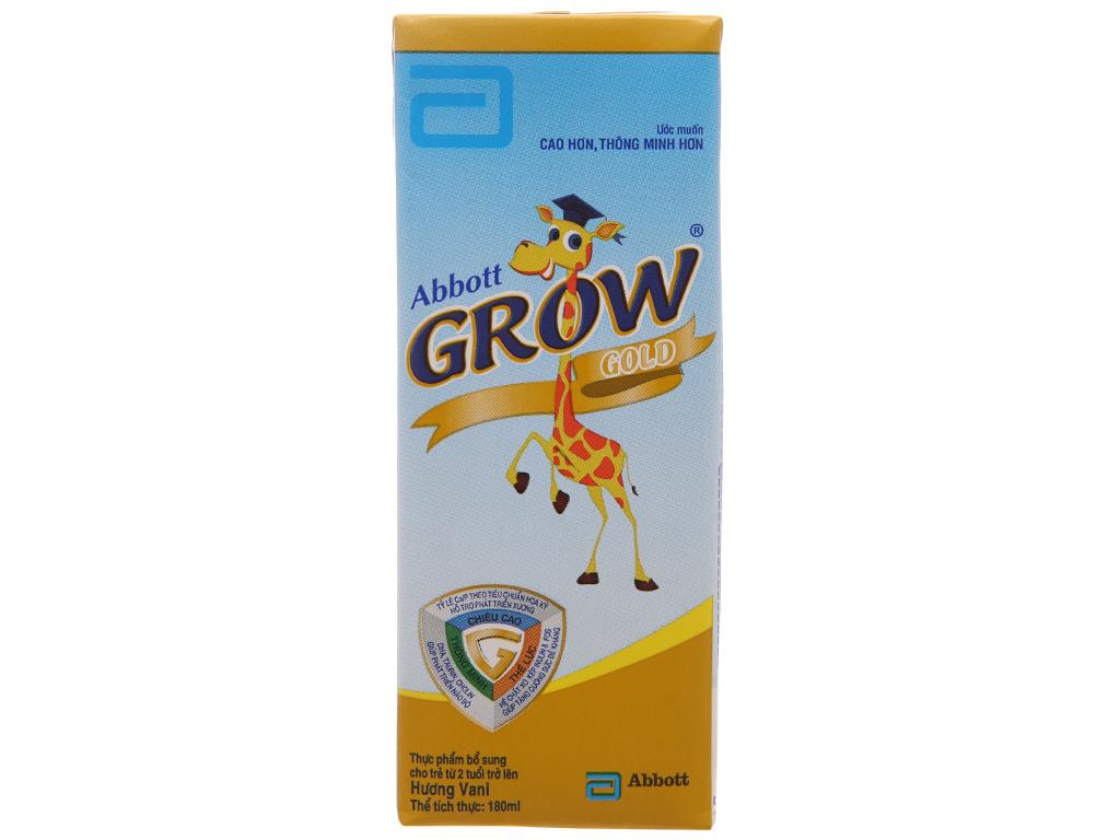 Lốc 4 hộp sữa bột pha sẵn Abbott Grow Gold vani 180ml 3