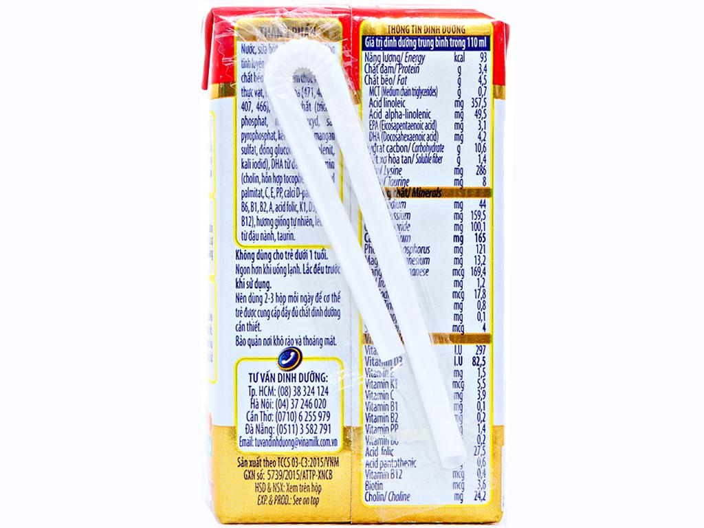 Lốc 4 hộp sữa bột pha sẵn Dielac Grow 110ml 3