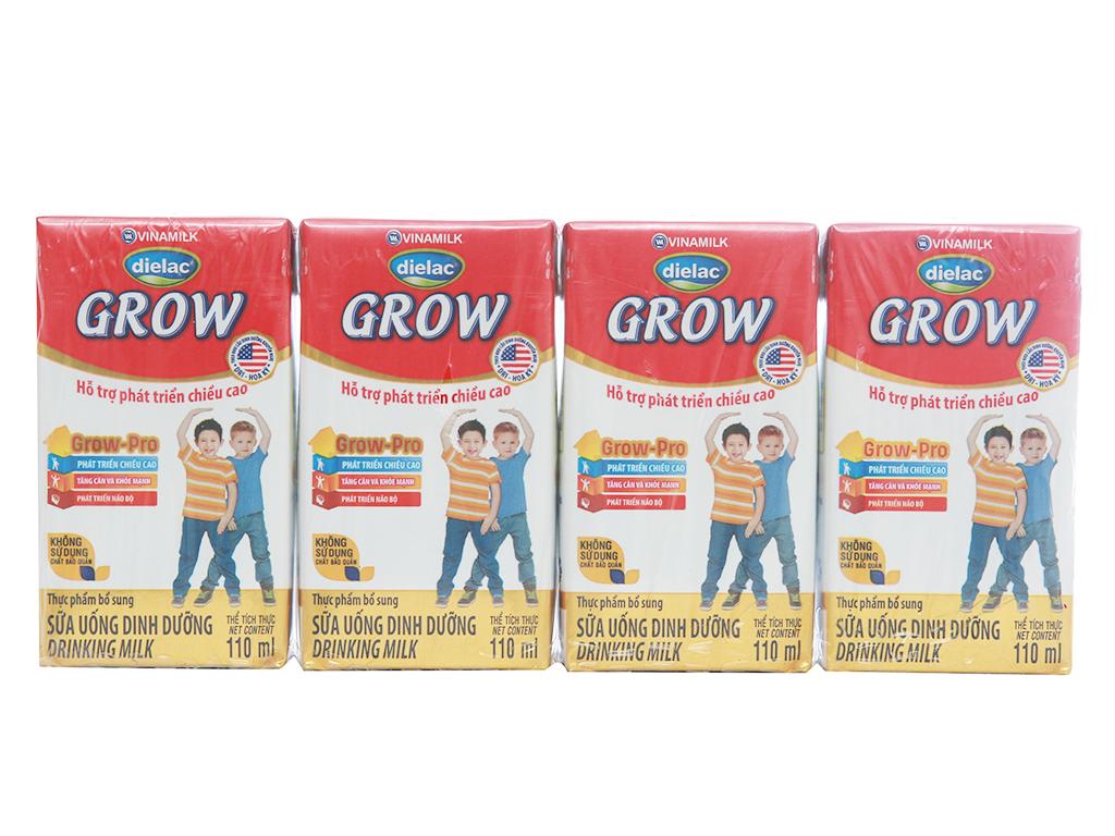 Lốc 4 hộp sữa bột pha sẵn Dielac Grow 110ml 1