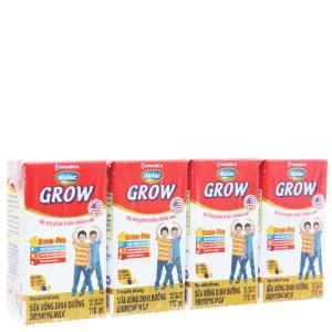 Lốc 4 hộp sữa bột pha sẵn Dielac Grow 110ml