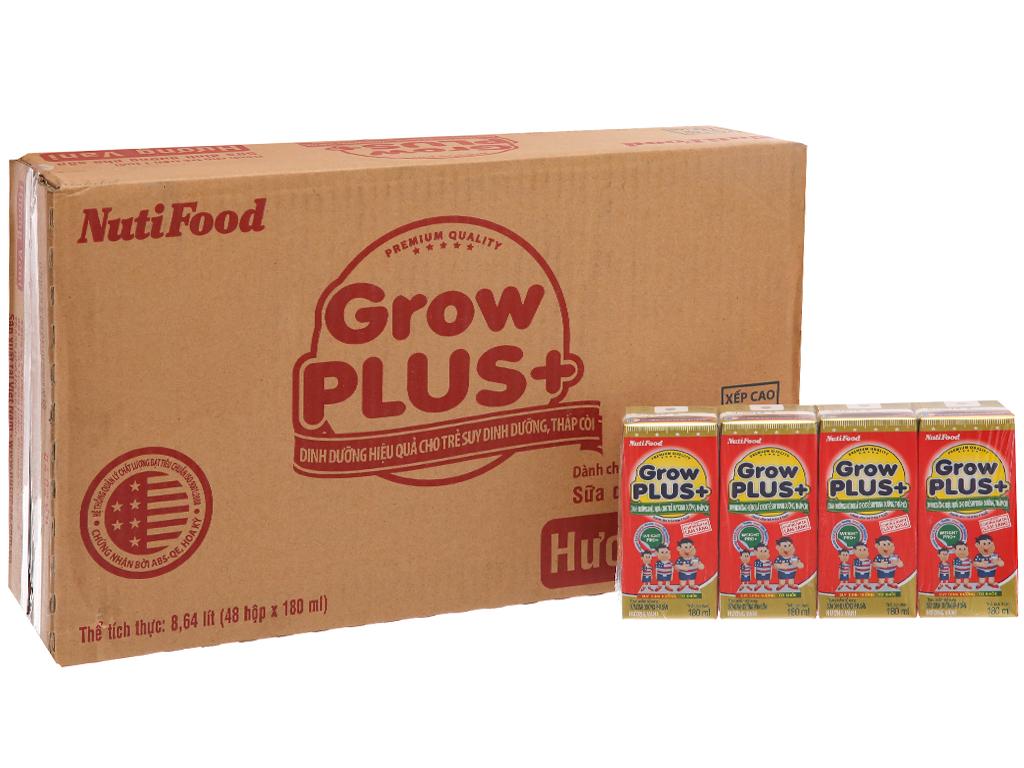 Thùng 48 hộp sữa bột pha sẵn NutiFood Grow Plus+ vani 180ml 2