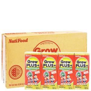 Thùng 48 hộp sữa bột pha sẵn NutiFood Grow Plus+ vani 180ml (cho trẻ suy dinh dưỡng, thấp còi)