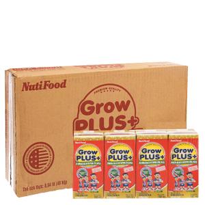 Thùng 48 hộp sữa bột pha sẵn NutiFood Grow Plus+ vani 180ml