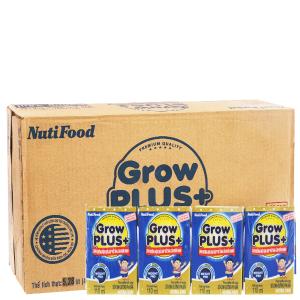 Thùng 48 hộp sữa bột pha sẵn NutiFood Grow Plus + tăng cân khỏe mạnh 110ml