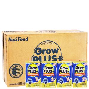 Thùng 48 hộp sữa dinh dưỡng pha sẵn NutiFood Grow Plus+ tăng cân khỏe mạnh 110ml