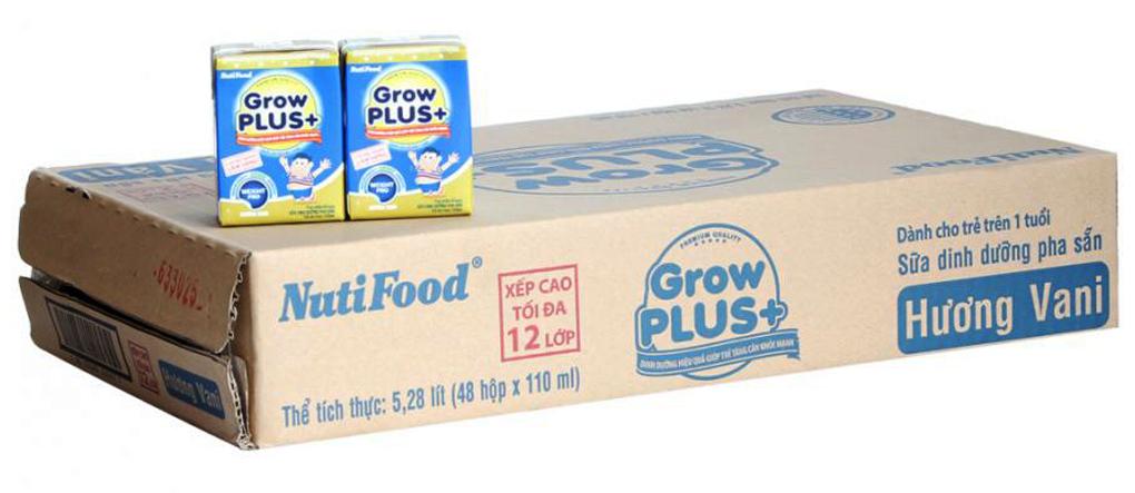 Sữa dinh dưỡng Grow Plus+ hương Vani hộp 110ml(thùng 48 hộp) 3
