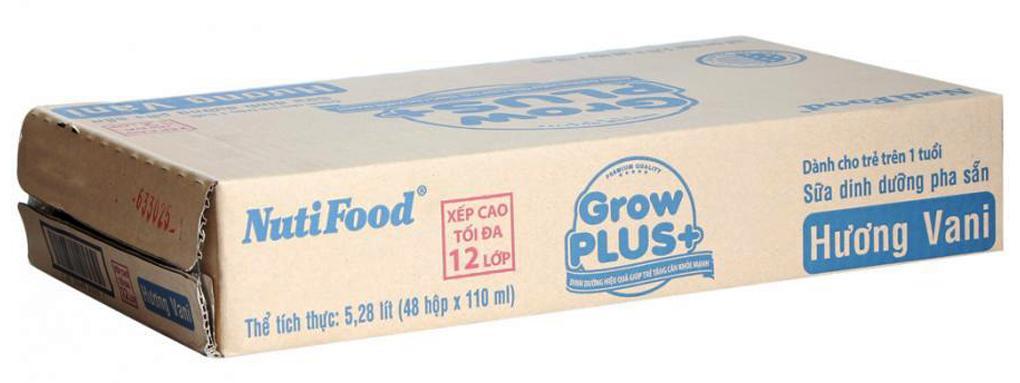 Sữa dinh dưỡng Grow Plus+ hương Vani hộp 110ml(thùng 48 hộp) 2