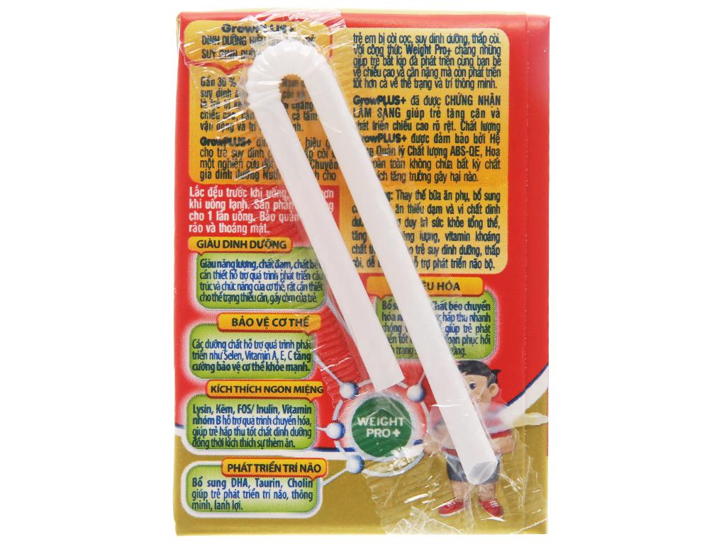 Thùng 48 hộp sữa dinh dưỡng pha sẵn NutiFood Grow Plus+ vani 110ml (cho trẻ suy dinh dưỡng, thấp còi) 4