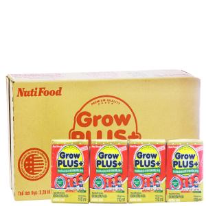 Thùng 48 hộp sữa dinh dưỡng pha sẵn NutiFood Grow Plus+ vani 110ml (cho trẻ suy dinh dưỡng, thấp còi)