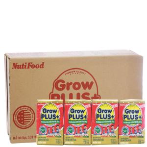 Thùng 48 hộp sữa bột pha sẵn NutiFood Grow Plus+ suy dinh dưỡng, thấp còi vani 110ml