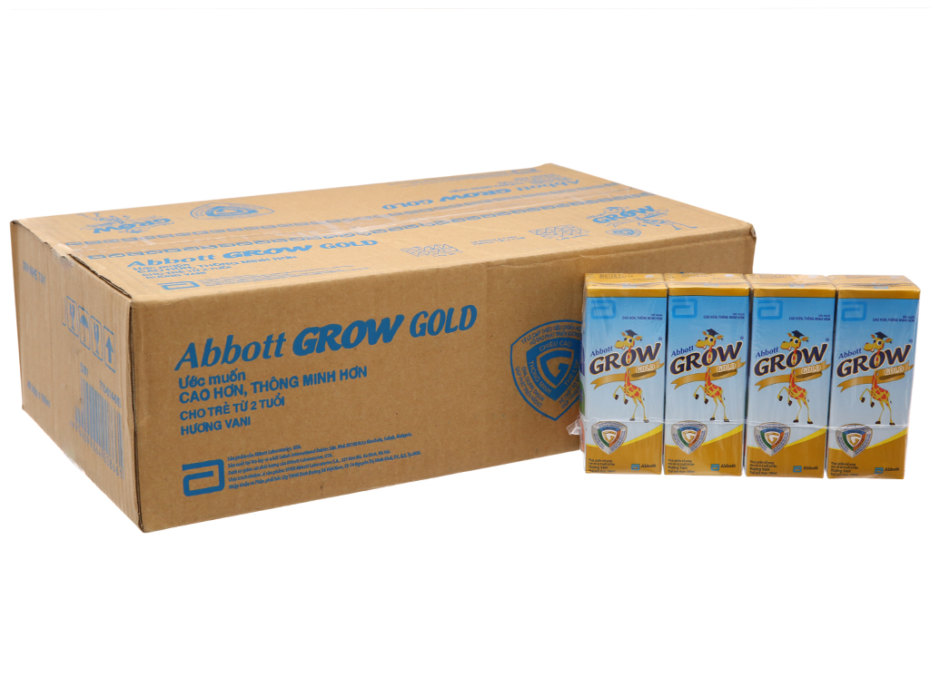 Thùng 48 hộp sữa bột pha sẵn Abbott Grow Gold vani 180ml 2