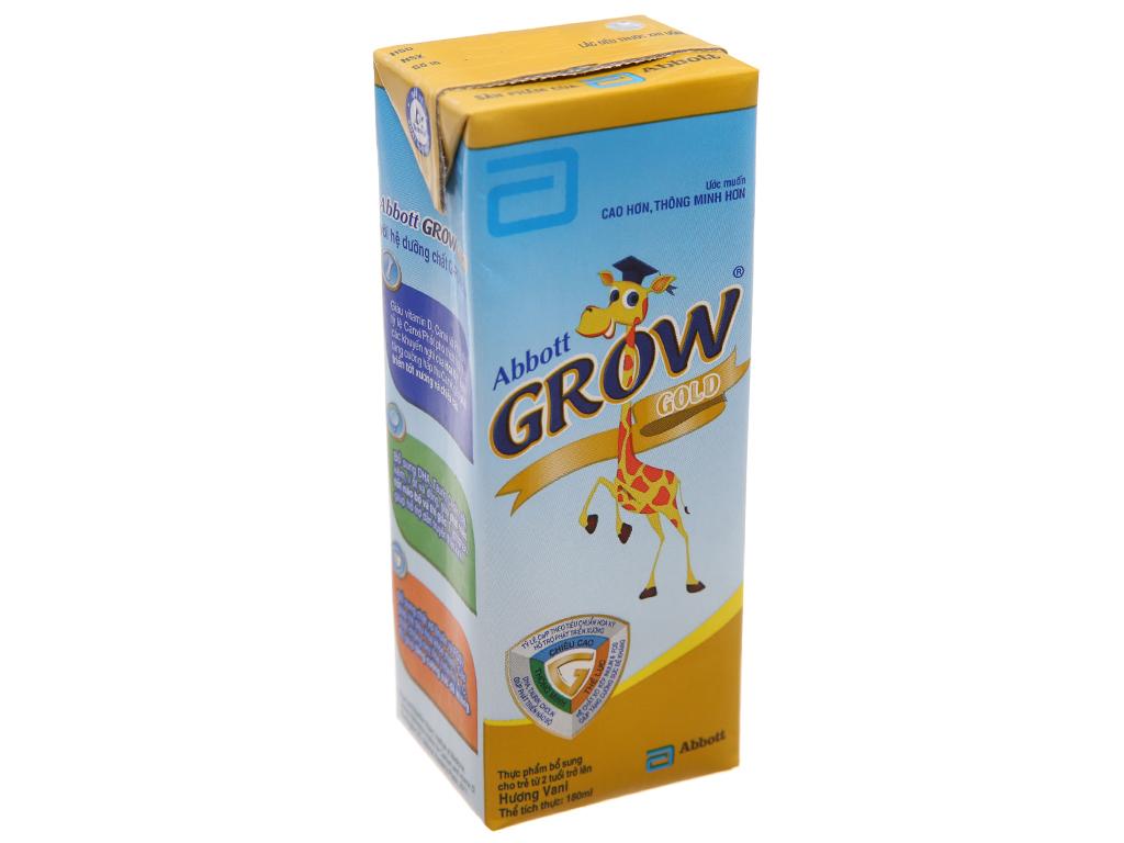 Thùng 48 hộp sữa bột pha sẵn Abbott Grow Gold vani 180ml 3