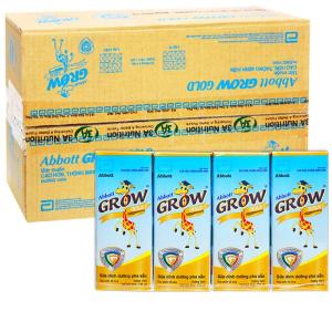 Thùng 48 hộp sữa bột pha sẵn Abbott Grow Gold vani 180ml