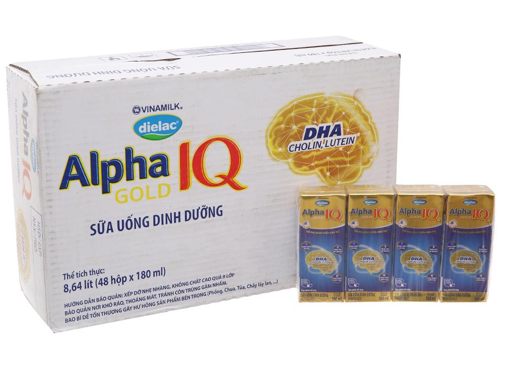 Thùng 48 hộp sữa bột pha sẵn Dielac Alpha Gold 180ml 2