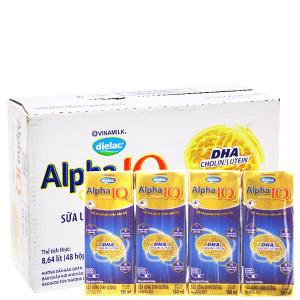 Thùng 48 hộp sữa bột pha sẵn Dielac Alpha Gold 180ml