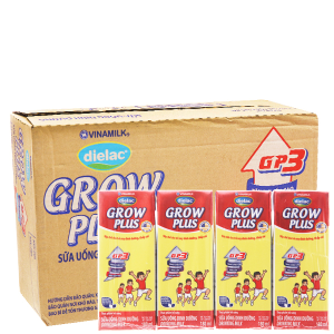 Thùng 48 hộp sữa bột pha sẵn Dielac Grow Plus 180ml (cho trẻ thấp còi)