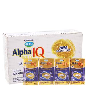 Thùng 48 hộp sữa bột pha sẵn Dielac Alpha Gold 110ml