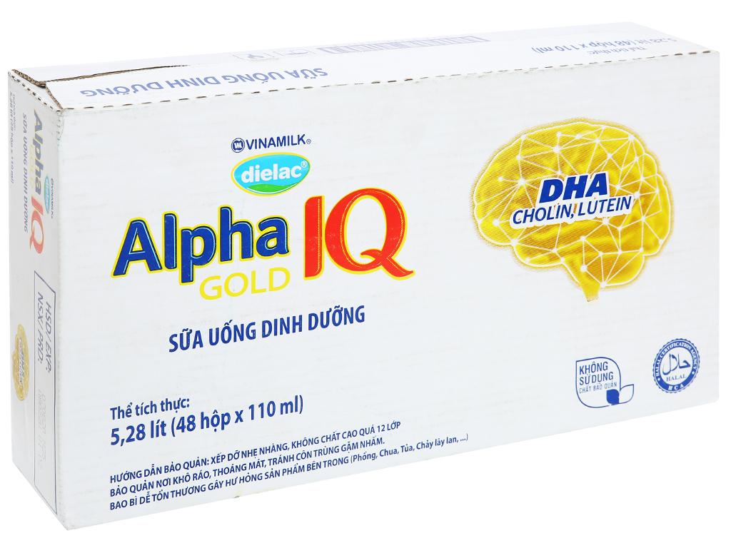 Thùng 48 hộp sữa uống dinh dưỡng Dielac Alpha Gold IQ 110ml 2