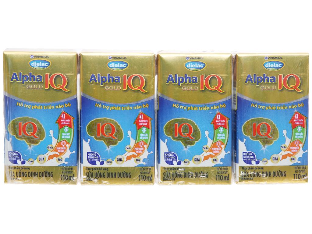 Thùng 48 hộp sữa uống dinh dưỡng Dielac Alpha Gold IQ 110ml 3