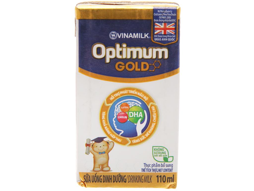 Thùng 48 hộp sữa uống dinh dưỡng Optimum Gold 110ml 2