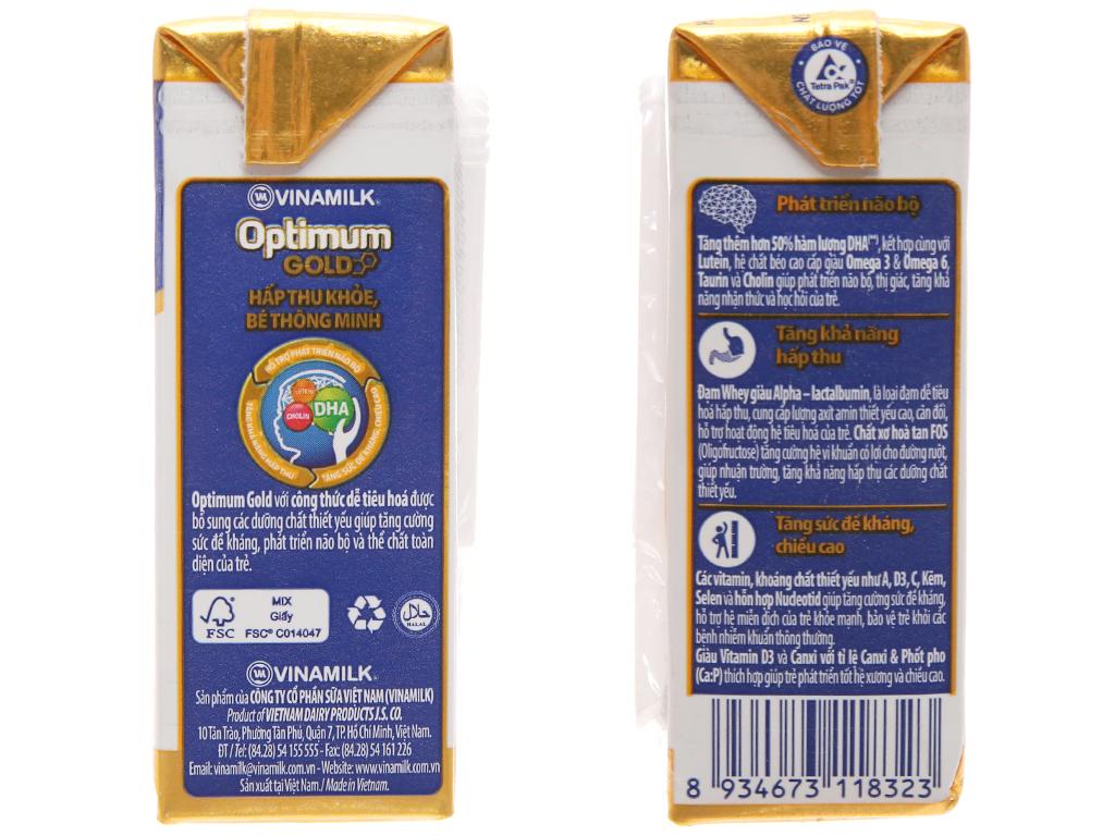 Thùng 48 hộp sữa uống dinh dưỡng Optimum Gold 110ml 4