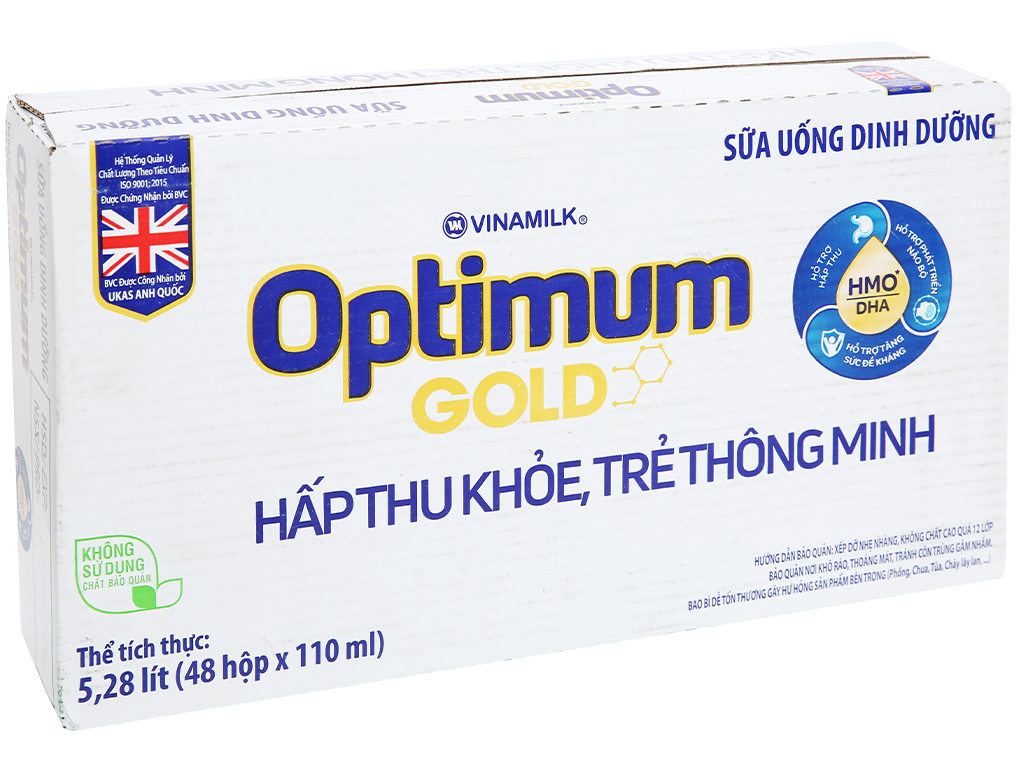 Thùng 48 hộp sữa uống dinh dưỡng Optimum Gold 110ml 1