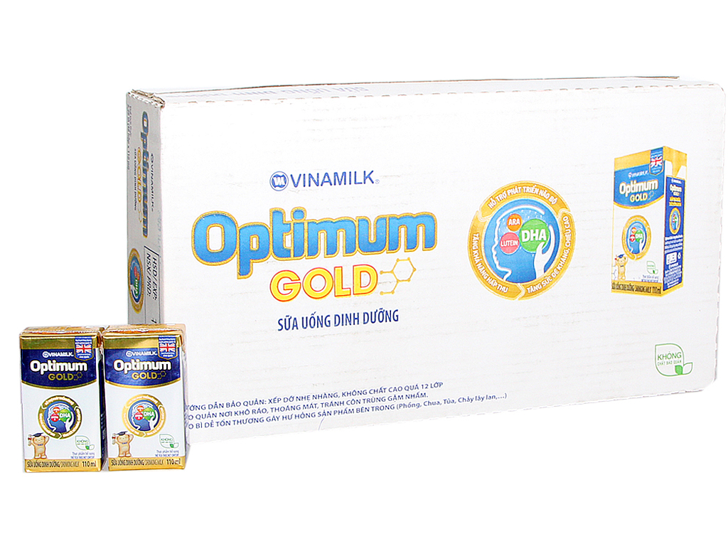 Thùng 48 hộp sữa bột pha sẵn Optimum Gold 110ml 1