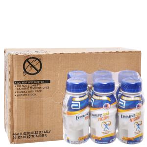 Thùng 24 chai sữa bột pha sẵn Ensure Gold Vigor vani 237ml