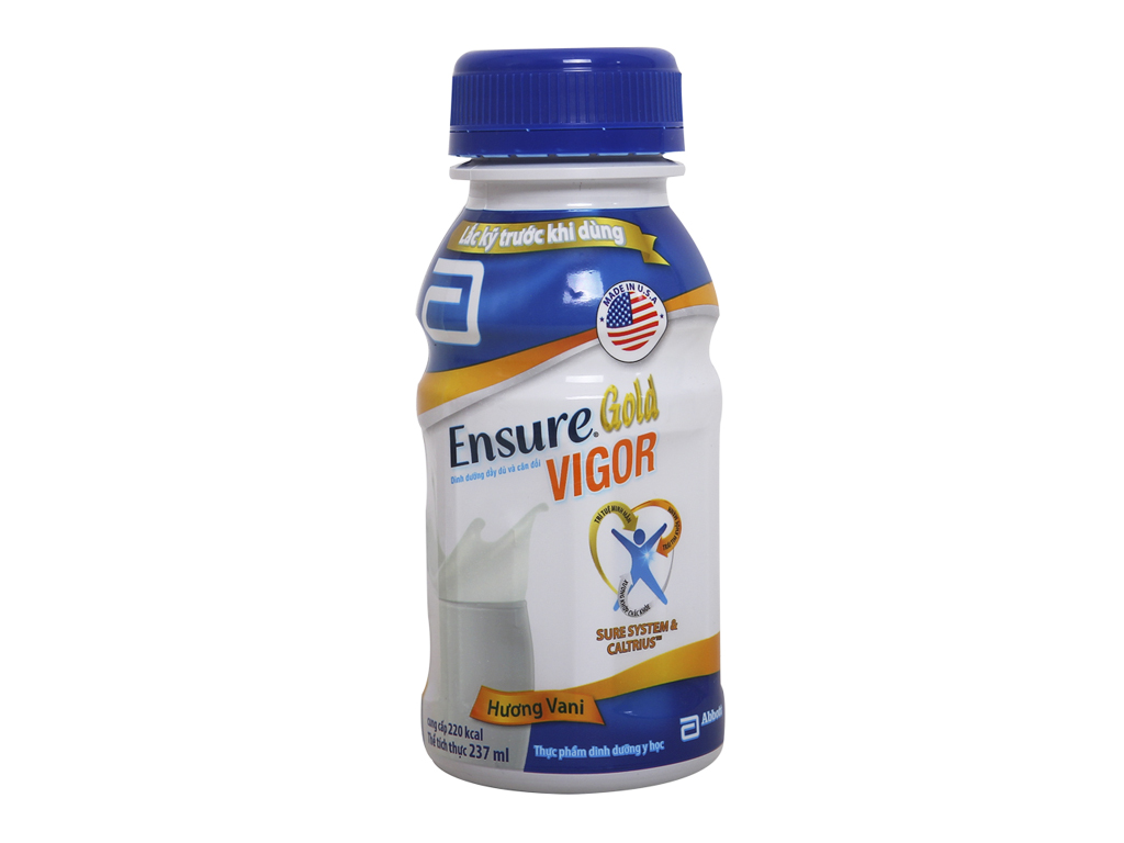 Thùng 24 chai sữa bột pha sẵn Ensure Gold Vigor vani 237ml 2