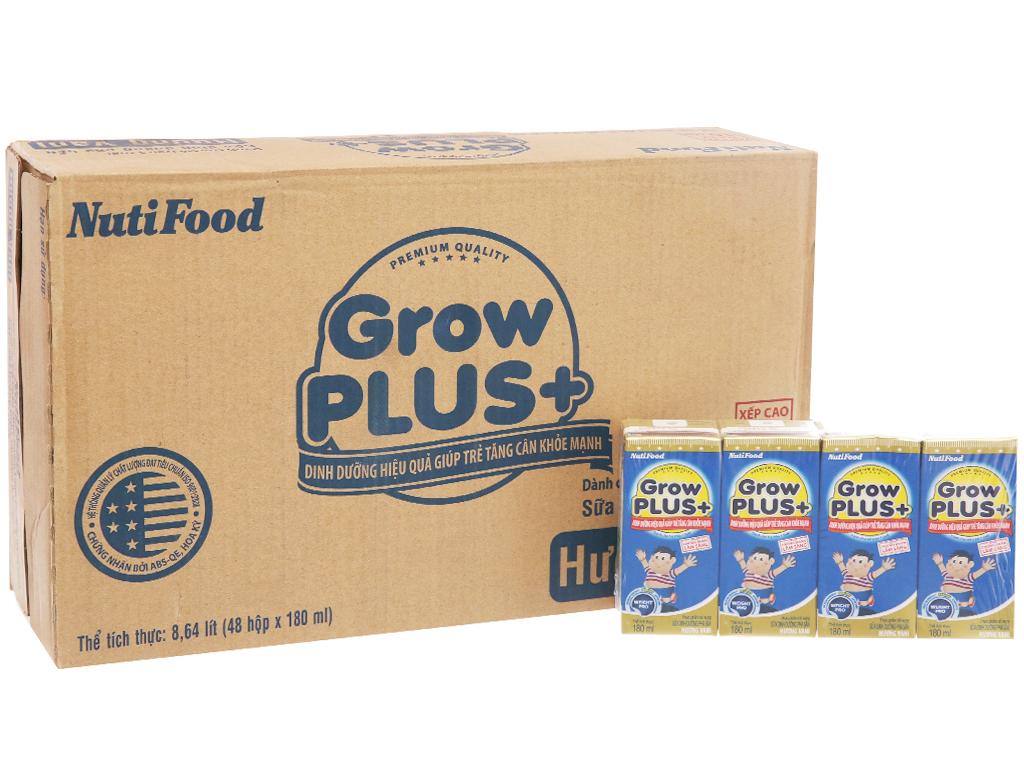 Thùng 48 hộp sữa dinh dưỡng pha sẵn NutiFood Grow Plus+ tăng cân khỏe mạnh 180ml 2
