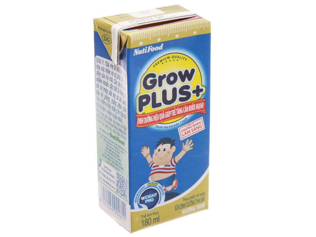 Thùng 48 hộp sữa dinh dưỡng pha sẵn NutiFood Grow Plus+ tăng cân khỏe mạnh 180ml 3