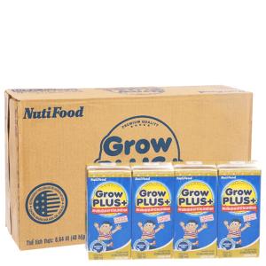 Thùng 48 hộp sữa bột pha sẵn NutiFood Grow Plus+ 180ml